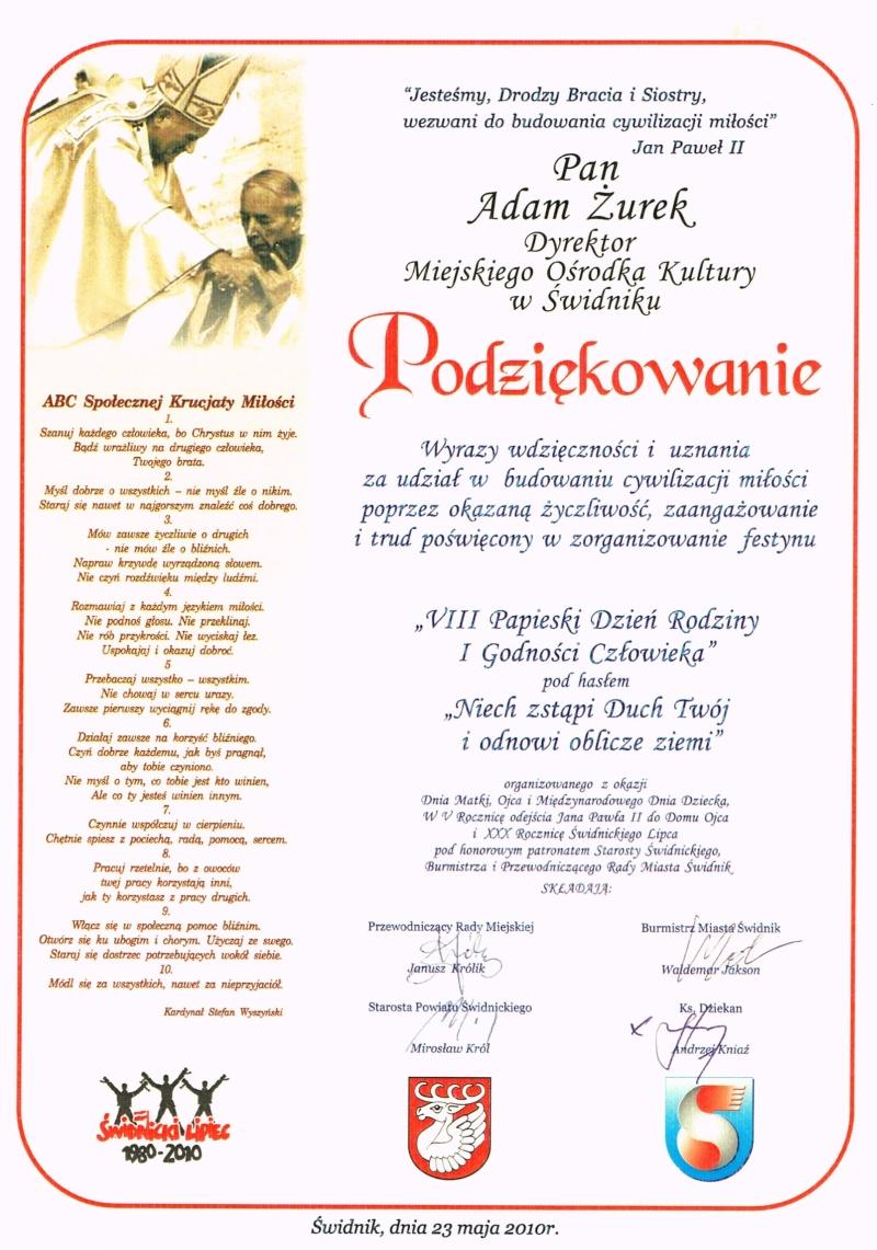 VIII Papieski Dzień Rodziny i Godności Człowieka