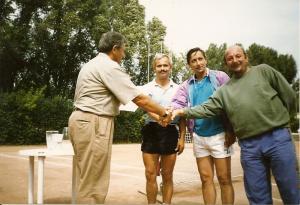 Korty OSiR Lublinie 1991-w srodku Wieslaw Ksieski