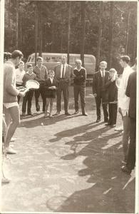 Mecz druzynowy korty w Swidniku 1966