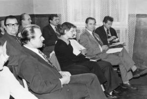 img342 1.dr.Henryk Górny- kier. przychodni przyzakłądowej WSK, 4. Stroiński Tadeusz- szef techn. przyg.prod. TPP, 5.Gołęb~1