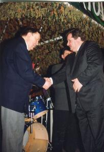img128 Majewski Mieczysław, z prawej dyr. nacz. WSK